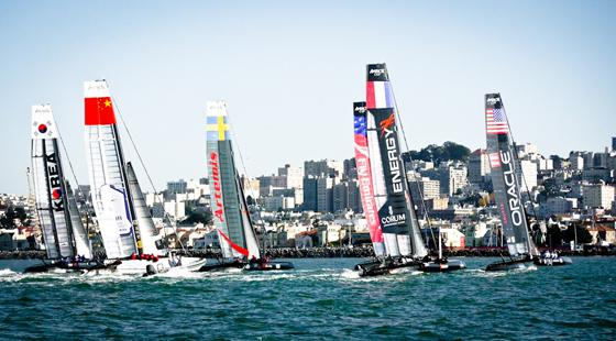 AC45's race along San Francisco city front