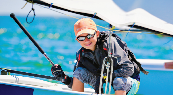 sail racing, opti, youth sailor