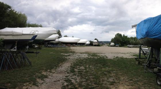 shrinkwrap, boat yard