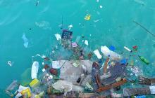 plastic trash in ocean