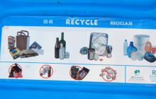 Recycling sign at America's Cup Park