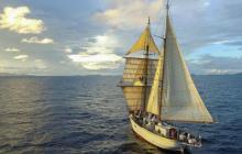 Caribbean, tall ship, marine science