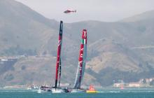 helicopter at the America's Cup